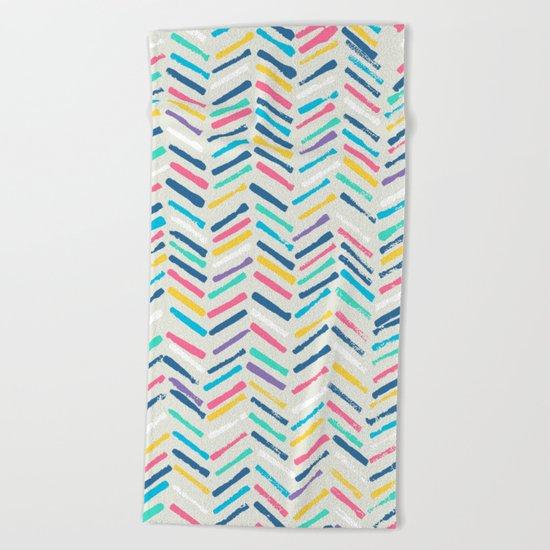 Herringbone Beach Towel