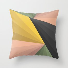 Geometric Colors Throw Pillow
