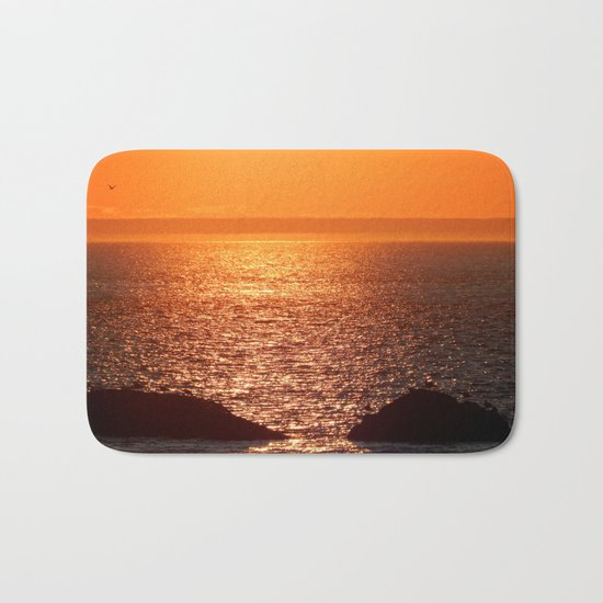 Orange Skies at Sunset Bath Mat