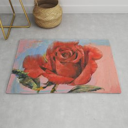 Rose Painting Rug