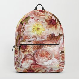 pink floral print | flower photography Backpack