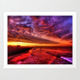 Dawn In Southern California Art Print