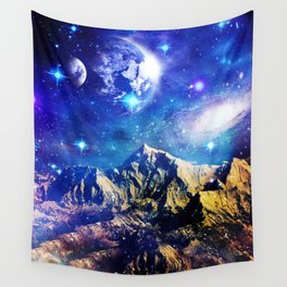 Mountain Stars Wall Tapestry