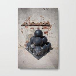 Cannonballs Metal Print