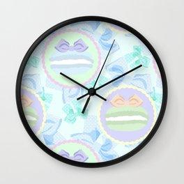 Grande Macarons & Bows Wall Clock