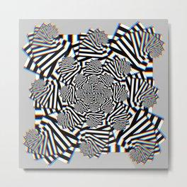 Stereo Tessellation Metal Print
