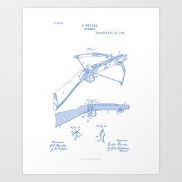 Crossbow Vintage Patent Hand Drawing Art Print