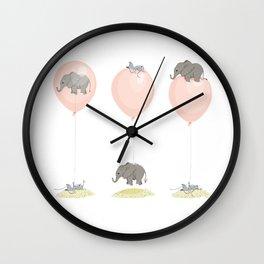 Elephant, globe and mouse Wall Clock