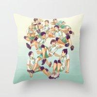 viria Throw Pillows featuring Aobajousai by viria