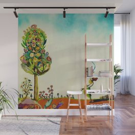 African American Masterpiece 'Tree of Life' by Benny Andrews Wall Mural