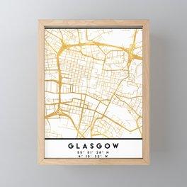 GLASGOW SCOTLAND CITY STREET MAP ART Framed Mini Art Print