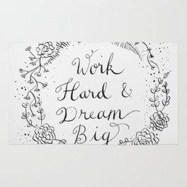Work Hard & Dream Big Rug