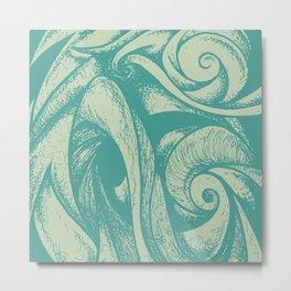 swirl (green and tan) Metal Print
