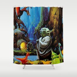 Swamp Dwelling Mystical Knight Shower Curtain