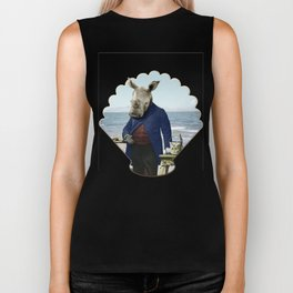 Mr. Rhino's Day at the Beach Biker Tank
