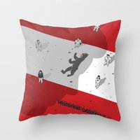 political Throw Pillows featuring Historical Political Figure by Pier Antonio Zanini