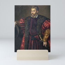 Portrait of Alfonso d'Este, Duke of Ferrara, by Titan Mini Art Print