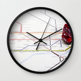 Lost & Found in the Roundabouts Wall Clock