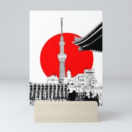 tokyo skytree red dot 1 Mini Art Print