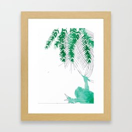 Palm tree frogs evergreen Framed Art Print