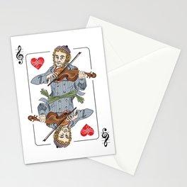 Fiddler poker Stationery Cards