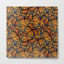 Monarch Butterflies Pattern | Butterfly Pattern | Metal Print