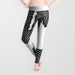 bummer black and white spiral Leggings