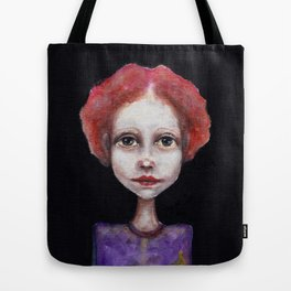 red hair Tote Bag