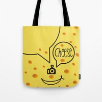 cheese Tote Bags featuring cheese by creaziz