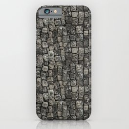 Ancient Stone Wall Pattern iPhone Case