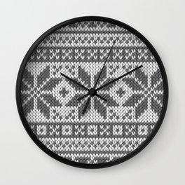 Winter knitted pattern4 Wall Clock