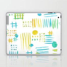 Watercolor geometric abstract pattern Laptop & iPad Skin