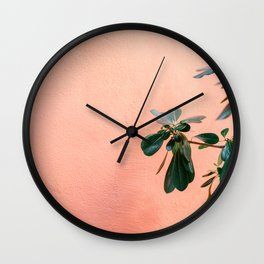 Green on Coral II | Botanical Rovinj fine art photography print | Croatia travel  Wall Clock