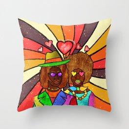 70's Love Throw Pillow