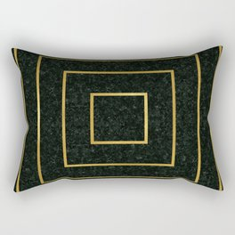 Golden Squares Rectangular Pillow