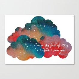 a sky full of stars Canvas Print