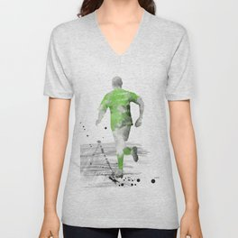 Soccer Player 5 Unisex V-Neck