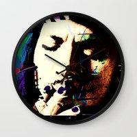 johnny depp Wall Clocks featuring Johnny Depp by brett66