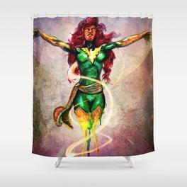 Dark Phoenix Reborn Shower Curtain