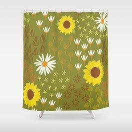 sunflower garden Shower Curtain