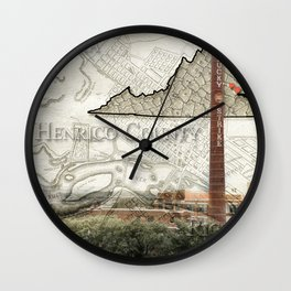 Henrico County VA Wall Clock