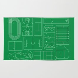 Sport Courts Pattern Art Rug