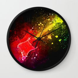 Guitar Explosion Wall Clock