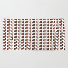 Narrowboat art Jugs pattern Beach Towel
