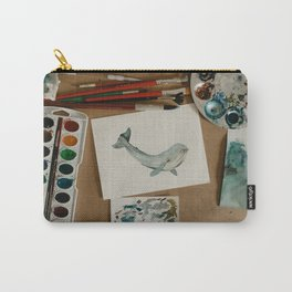 Watercolor Whale Carry-All Pouch