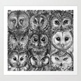 Owl Optics BW Art Print