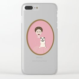Pug Lady Clear iPhone Case