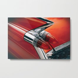 Vintage car phare Metal Print