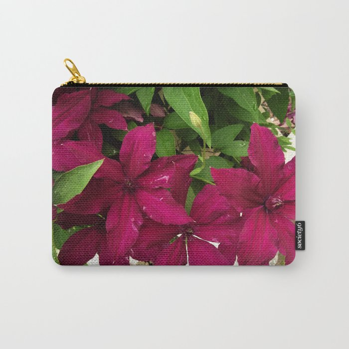 Rouge Cardinal Clematis Carry-All Pouch