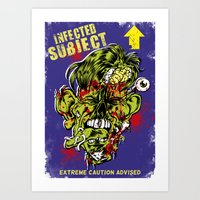 Infected Subject Art Print